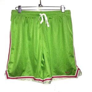 Nike    Lime Green mesh shorts with drawstring